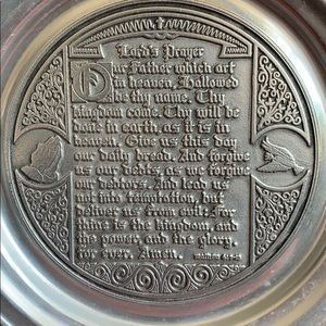 """Wilton Armetale """"The Lord's Prayer Plate"""""""
